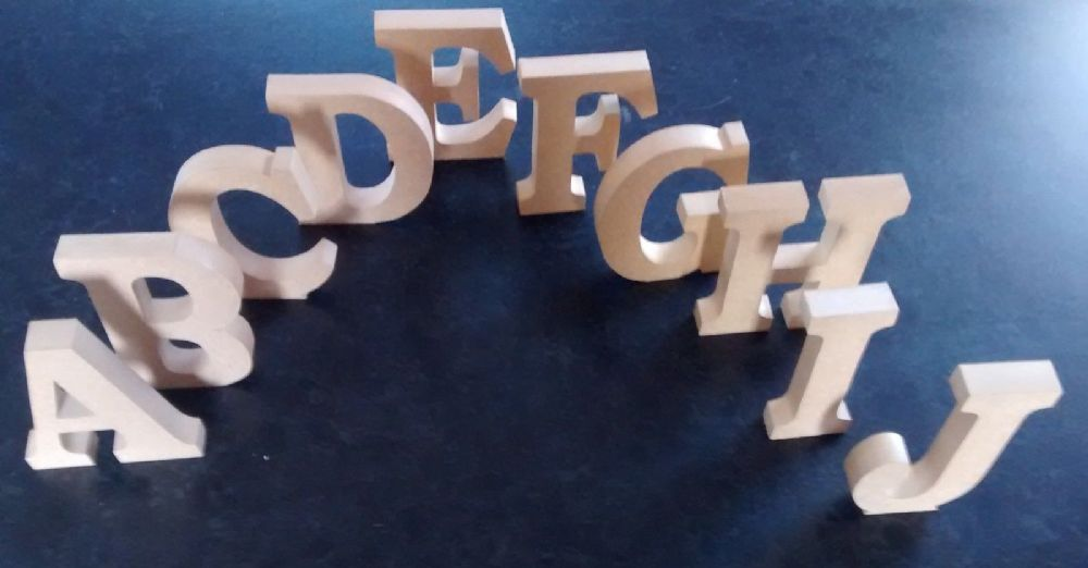 FREE STANDING WOODEN LETTERS HOME DECOR NAME. large MDF